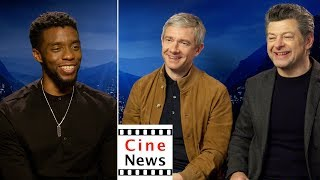 Black Panther – Interview: Chadwick Boseman, Martin Freeman, Andy Serkis