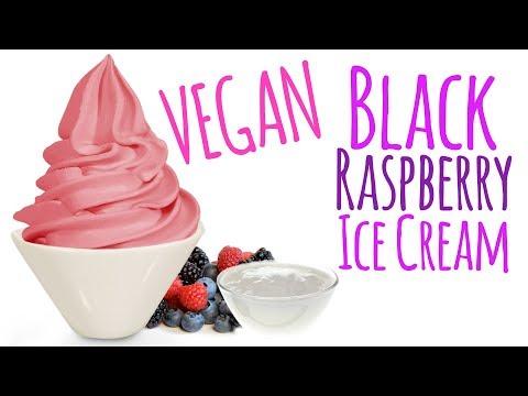 Creamy and Delicious VEGAN Black Raspberry Ice Cream