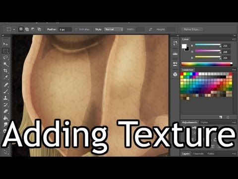 Adding Textures to Photoshop Paintings