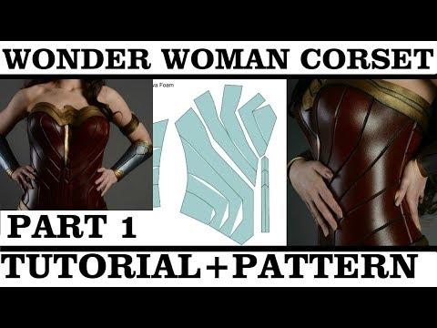 Wonder Woman Corset. How to make tutorial. PART 1 (+Pattern)
