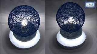 Make a Home Made wrapped woolen Lamp   |Night Lamp |Table Lamp by Crazy Art 4U