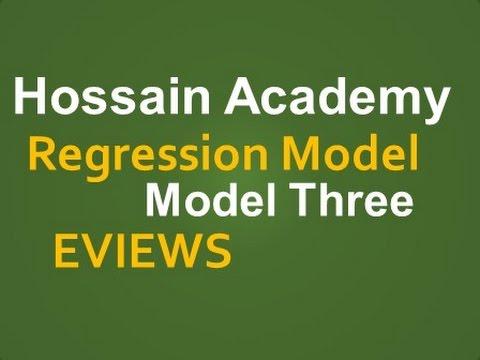 Regression Model Three. Residual Analysis, EVIEWS