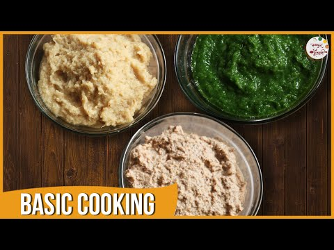 Ginger Garlic Paste, Dry Coconut Paste - Vatan | Basic Cooking | Recipe by Archana in Marathi