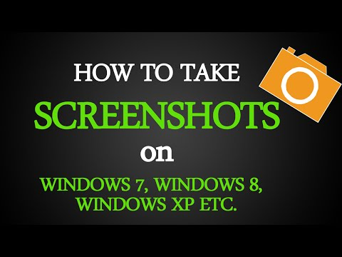 How To Take Screenshots on Windows 7, 8, 8.1, XP, in PC / Laptop