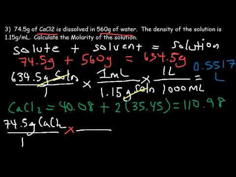 Molality Practice Problems   Molarity, Mass Percent, and Density of Solution Examples