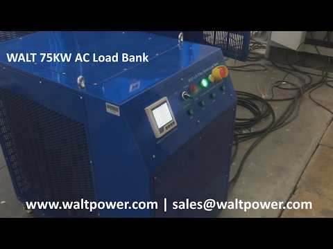 WALT Portable 75KW LOAD BANK for Generator set Testing