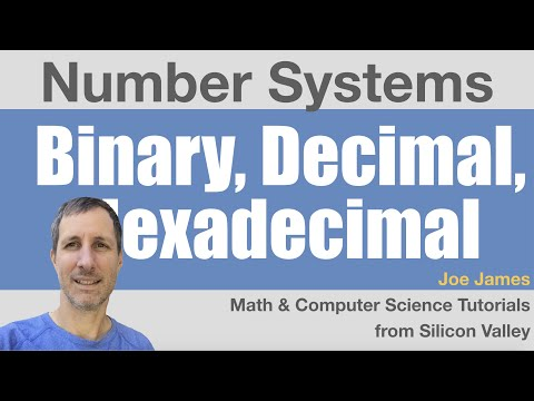 Number Systems - Converting Decimal, Binary and Hexadecimal