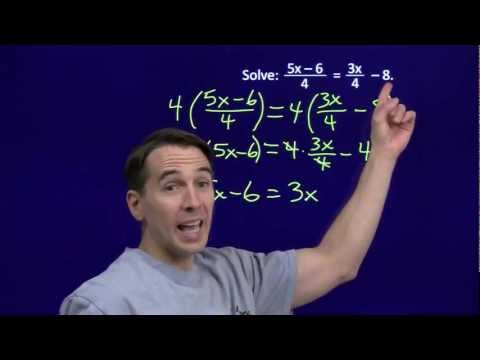 Art of Problem Solving: Linear Equations with Fractions Part 2
