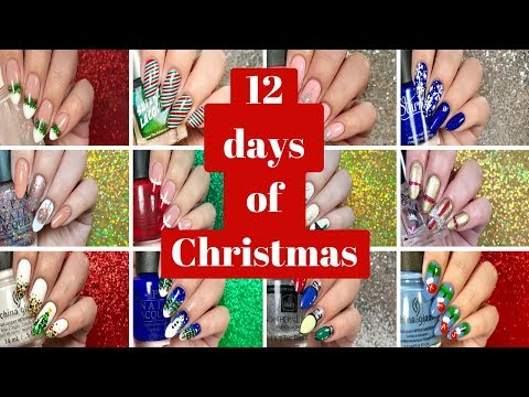 ❄️🎄 12 Days of Christmas Nails: Compilation Video! 🎄❄️