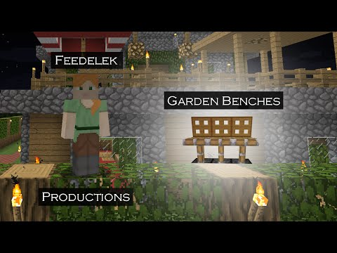 Minecraft - How To Basic - Garden Benches