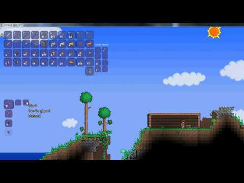 TERRARIA how to survive 1st night and build shelter EP1