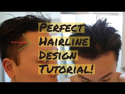 How to Draw The Perfect Hairline Design Tutorial