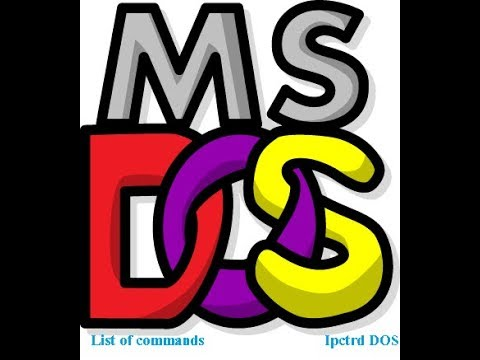 What is MS - DOS? List of commands in DOS.