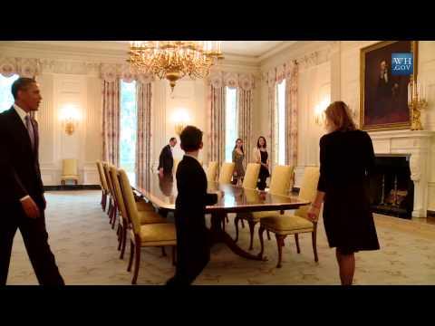 Obama Jokes With Kid On White House Tour