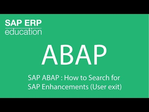 SAP ABAP : How to Search for  SAP Enhancements ( User exit )