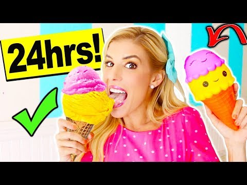 i only ate Squishy Food vs. Real Food for 24 hours!