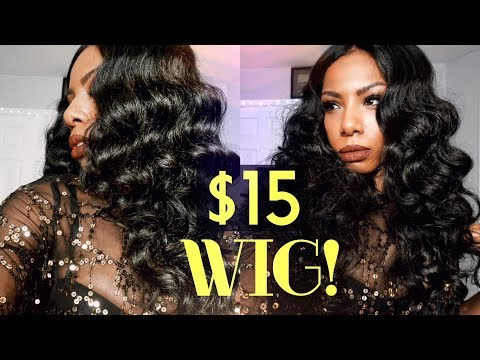 $15 MUST HAVE BOMBSHELL WIG! FULL GLAM SENSATIONNEL EMPRESS LACE WIG DEE OLD HOLLYWOOD WAVES
