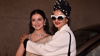 Beautiful Rekha With Divya Khosla Kumar At BULBUL Movie Special Screening