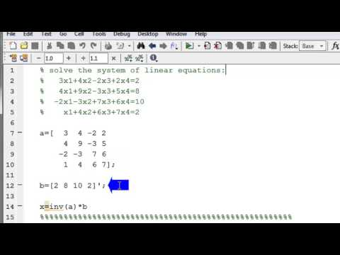 Solve a system of linear equations in MATLAB using matrix inverse method