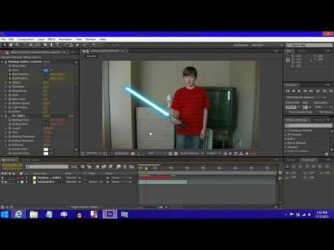 How to make a Lightsaber Effect in Adobe After Effects CS6 (EASY)