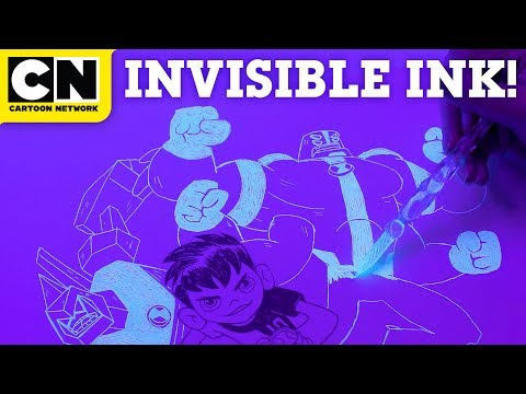 Drawing Ben 10 With Invisible Ink | LET'S CREATE