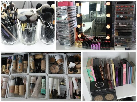 Makeup Collection & Storage | Part 1 - Brushes, Foundations, Primers, Lashes + MORE!