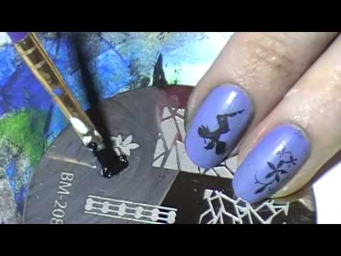 Part 3 of Testing Acrylic Paints with nail art stamping plates