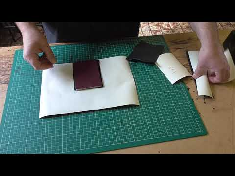 How to make a leather travel  wallet