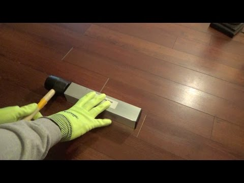 HOW TO CLOSE LAMINATE FLOORING END JOINT GAPS - Floor Gap Fixer Review