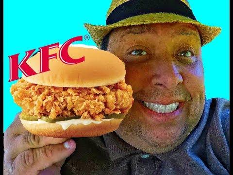 KFC® Crispy Colonel Chicken Sandwich REVIEW!