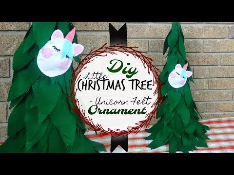 DIY Christmas Tree + Felt Unicorn Ornament