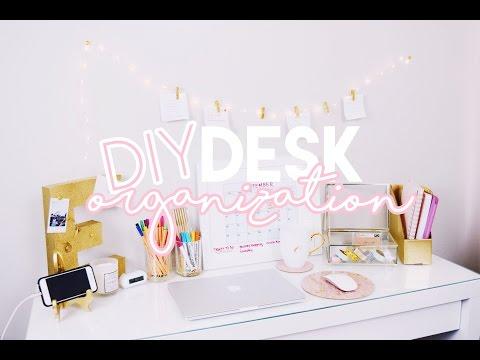 10 DIY Desk Organization Ideas ♡