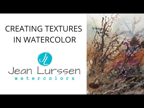 Watercolor Tutorial: Textures in Watercolor - #3