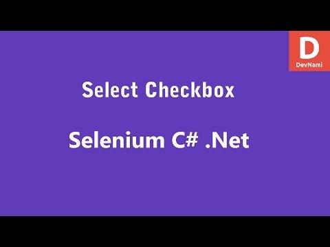 Selenium C# Select Checkbox