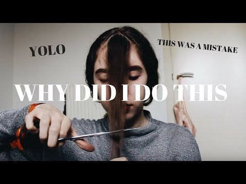 CUTTING BANGS ON WAVY HAIR + DANCING | FAILED | Alessia Di Giorgi