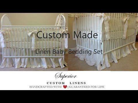 Baby bedding set, handmade from 100% linen by Superior Custom Linens