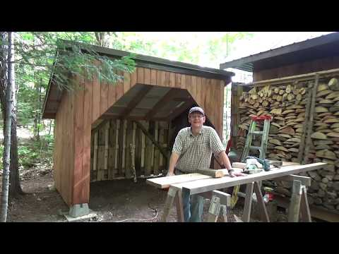 Building a wood shed at our off grid cottage