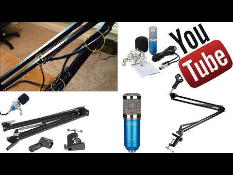 Quick Setup Tips For Neewer Professional Microphone Boom, BM-800 Microphone and 48v phantom power
