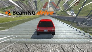 BeamNG drive - FIAT UNO VS ESCADARIA.