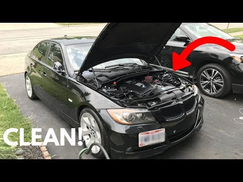 How To Clean/Detail Your BMW Engine Bay! DIY!