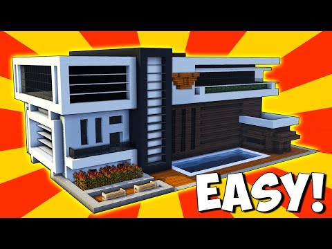 Minecraft: How To Build A Modern Mansion House Tutorial (#100)