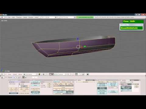 Blender Simple Boat Hull modeling tutorial
