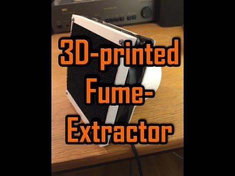 3D-printed Fume Extractor DIY