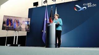 "Merkel: ""Crise deve ter uma resposta massiva e poderosa"""