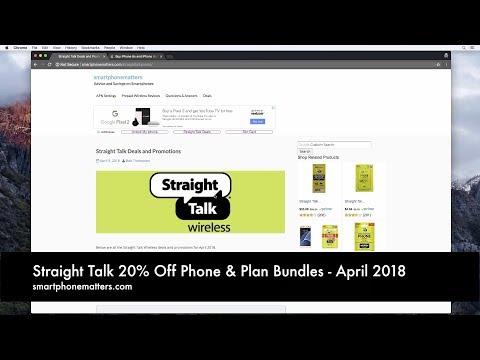 Straight Talk 20% Off Phone & Plan Bundles - April 2018