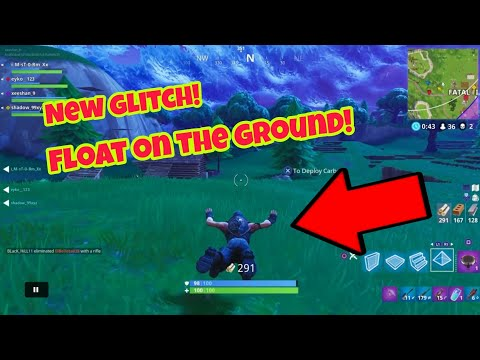 Fortnite Battle Royale Glitch (New) Float on the ground PS4/Xbox one 2018
