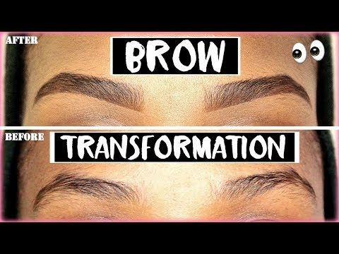 HOW TO TRANSFORM YOUR EYEBROWS WITHOUT WAXING! | Current Eyebrow Routine 2016