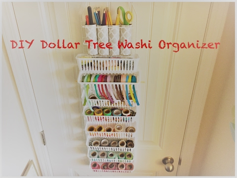 DIY Dollar Tree Over the Door Craft Organizer- 150+ Washi Organizer - Easy Less than $5