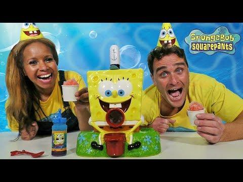 SpongeBob Sno-Cone Maker + Toy Challenge! || Toy Review || Konas2002