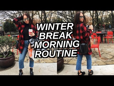 My REAL Winter Break Morning Routine!